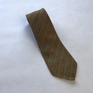 Vintage Men's Geometric Striped Silk Tie